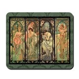 Funny Alphonse mucha Mousepad