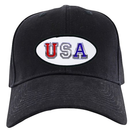 USA Chrome 3D Black Cap