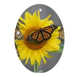 Monarch butterflies Ornament (Oval)