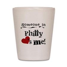 Philly Loves Me Shot Glass