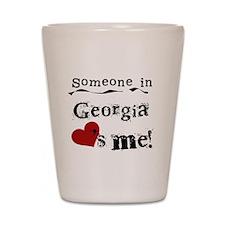 Someone in Georgia Shot Glass