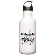 Lithuania Rocks Water Bottle