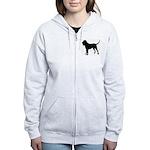 Bloodhound Silhouette Women's Zip Hoodie