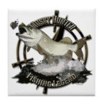 Fishing Legend Tile Coaster