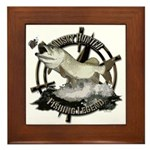 Fishing Legend Framed Tile