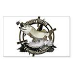 Fishing Legend Sticker (Rectangle)