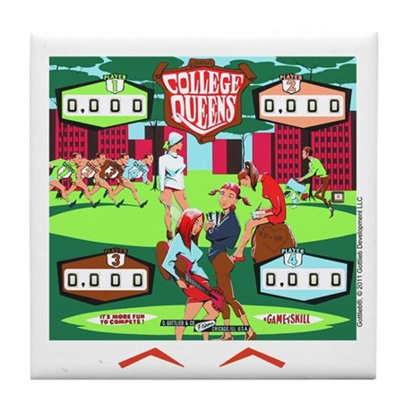 "Gottlieb® ""College Queens"" Tile Coaster"