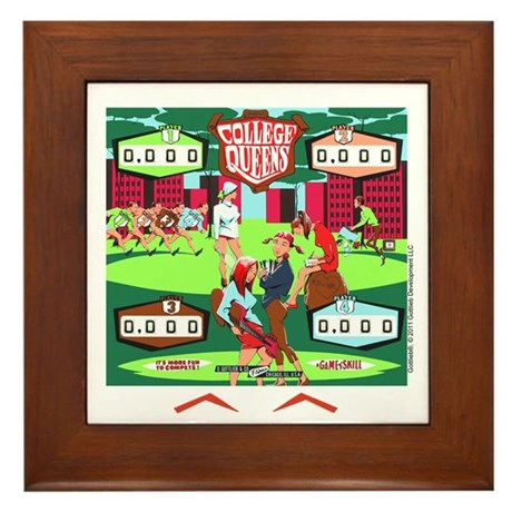 "Gottlieb® ""College Queens"" Framed Tile"