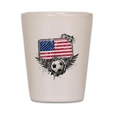 Soccer Fan United States Shot Glass