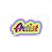 Cute Artist Aluminum License Plate