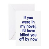 In My Novel - Writer Greeting Card