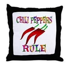 Chili Peppers Rule Throw Pillow