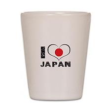 I Heart Japan Shot Glass