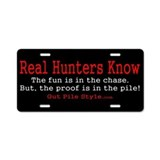 Real Hunter License Plate
