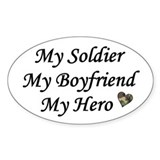 My Boyfriend, My Soldier, My Oval Decal