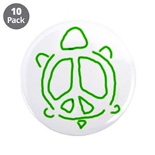 "Peace turtle 3.5"" Button (10 pack)"
