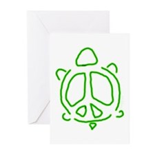 Peace turtle Greeting Cards (Pk of 20)
