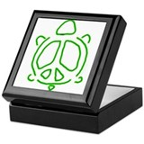 Peace turtle Keepsake Box