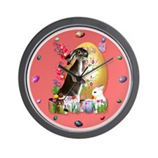 A Good Three Bunny Easter Wall Clock