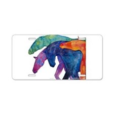 Rainbow Horses Aluminum License Plate