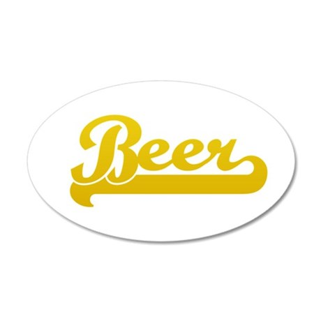 I Love Beer 22x14 Oval Wall Peel