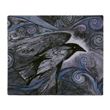 Night Raven Throw Blanket