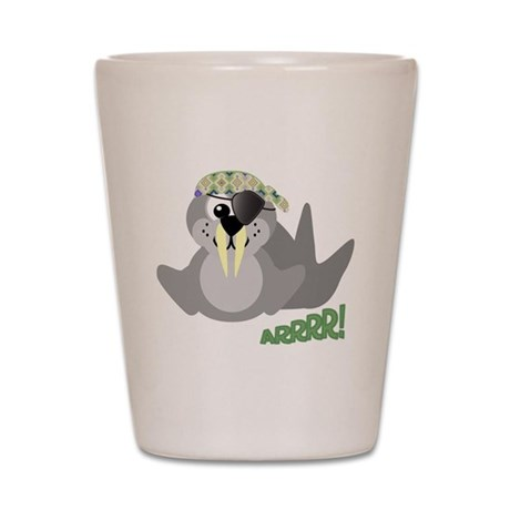 Goofkins Walrus Pirate Shot Glass