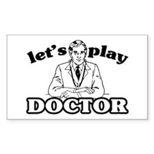 Play Doctor Rectangle Decal
