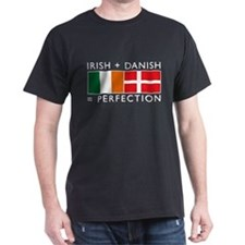 Irish Danish heritage flags T-Shirt