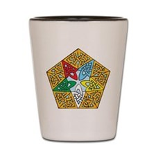 Eastern Star Celtic Knot Shot Glass