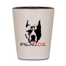 Pitbull with Lipstick - Palin Shot Glass