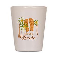 Tropical Aruba Bride Shot Glass
