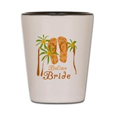 Tropical Belize Bride Shot Glass