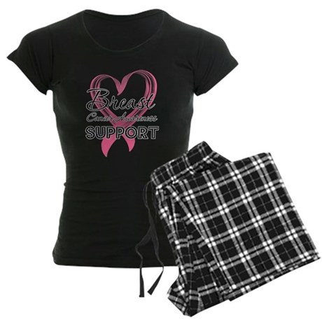 Support Breast Cancer Women's Dark Pajamas
