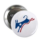 "Democrat Kicking Donkey 2.25"" Button"