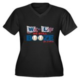 Win or Lose Women's Plus Size V-Neck Dark T-Shirt