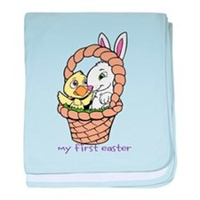 My First Easter with Basket baby blanket