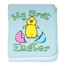 My First Easter Hatched Chick baby blanket