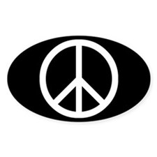 White Peace Sign Bumper Stickers