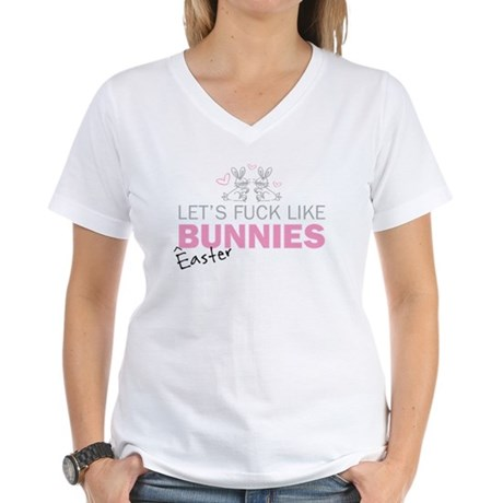 Let's fuck like bunnies (East Women's V-Neck T-Shi