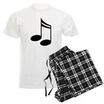 Musician Musical Notes Mens Plaid Pajamas