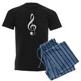 Music Treble Clef Plaid Mens Pajamas
