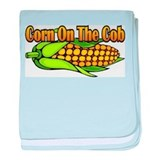 Corn on the Cob baby blanket