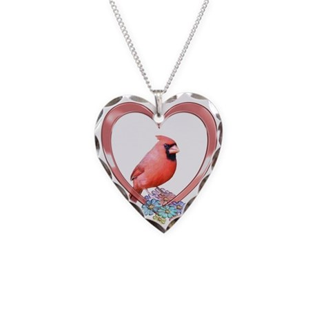 cardinal in necklace by funcritters