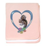 Squirrel in Heart baby blanket