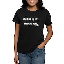 Castle Don't Ruin My Story Women's Dark T-Shirt