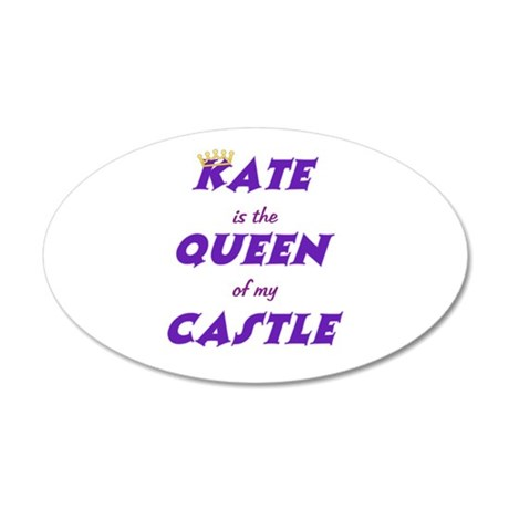 Castle: Kate is Queen 38.5 x 24.5 Oval Wall Peel