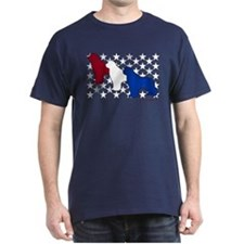 Patriotic Newfies T-Shirt