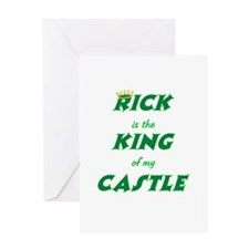 Castle: Rick is King Greeting Card