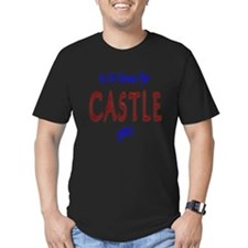 Time For Castle Men's Fitted T-Shirt (dark)